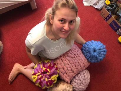 Мастер класс вязание подушки