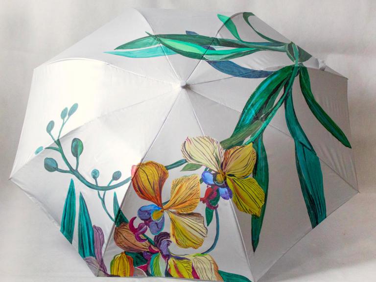 Зонтики роспись