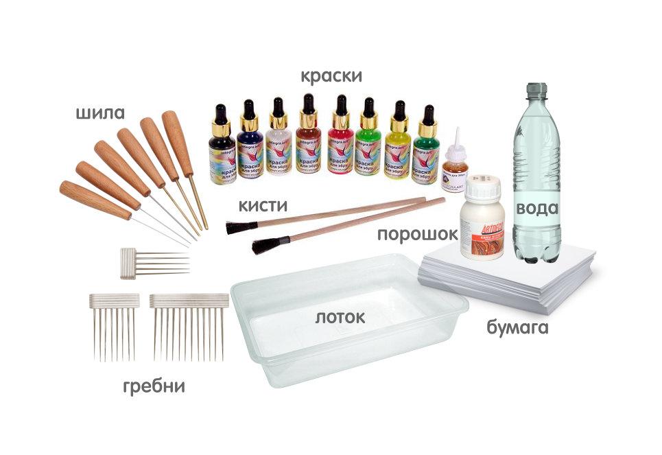 Инструменты для рисования Эбру