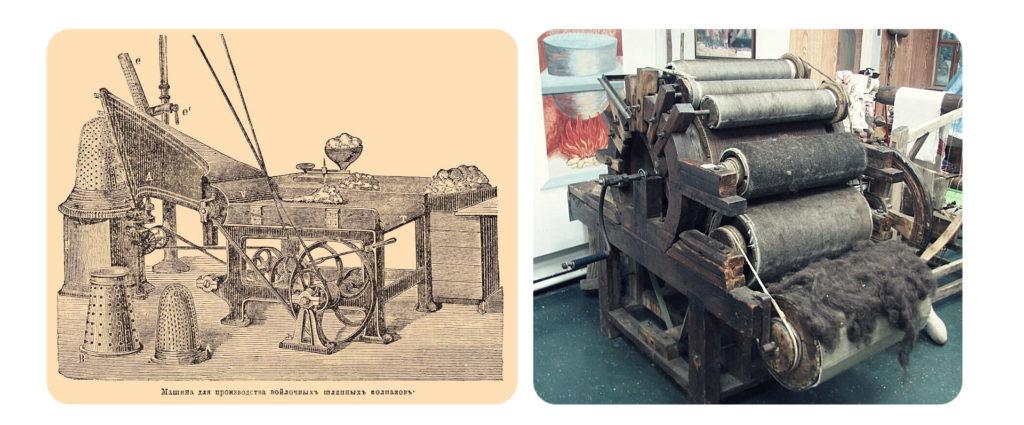 Машины для работы с шерстью